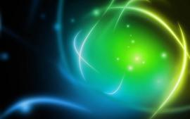Fundo abstrato, azul e verde, luz brilhante