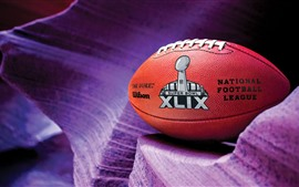 American football, purple background