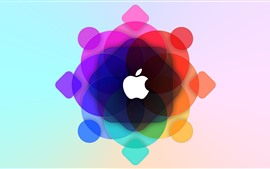Preview wallpaper Apple, colorful circles background