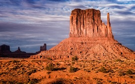 Preview wallpaper Arizona, monument valley, clouds, USA