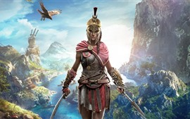 Aperçu fond d'écran Assassin's Creed: Odyssey, belle fille