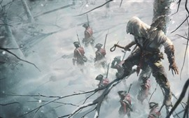 Preview wallpaper Assassin's Creed, Ubisoft, soldiers, tree, winter