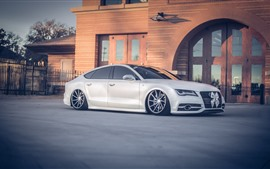 Preview wallpaper Audi A7 white car side view