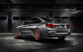 Preview wallpaper BMW M4 GTS silver car rear view
