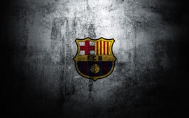 Preview wallpaper Barcelona, logo, wall
