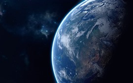 Preview wallpaper Beautiful Earth, blue planet