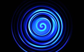 Preview wallpaper Blue abstract spiral, black background