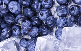 Preview wallpaper Blueberries, ice cubes