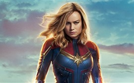 Preview wallpaper Brie Larson, Captain Marvel 2019