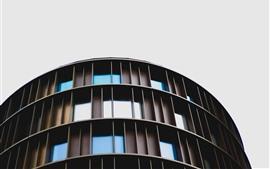 Edifícios, janelas, céu