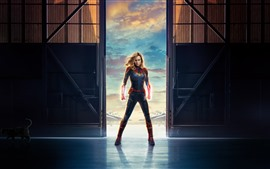 Preview wallpaper Captain Marvel, Brie Larson, Marvel movie 2019