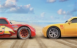 Preview wallpaper Cars 3, red and yellow car