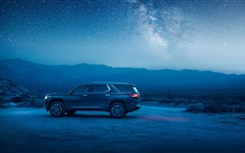 Chevrolet Traverse SUV car, night, starry