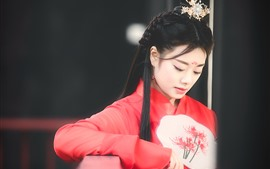 Preview wallpaper Chinese ancient girl, beautiful, hazy
