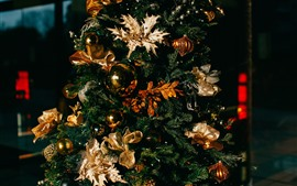 Preview wallpaper Christmas tree, balls, decoration