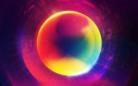 Círculos, coloridos, brilhantes, abstratos