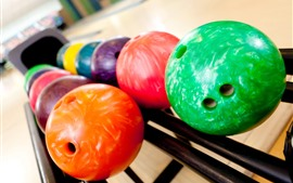 Preview wallpaper Colorful bowling balls