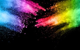 Colorful paint, splash, rainbow colors, abstract