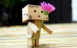 Preview wallpaper Danbo, pink flower