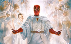 Preview wallpaper Deadpool 2, art picture, bubbles