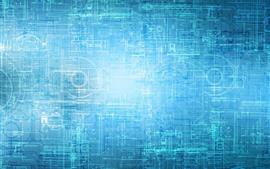 Diagrama do projeto, estilo azul, palavras, linhas