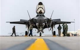 Preview wallpaper F-35A Lightning II fighter