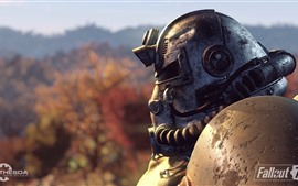 Preview wallpaper Fallout, warrior, helmet