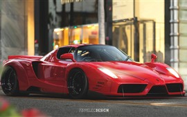 Preview wallpaper Ferrari Enzo red supercar