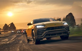 Preview wallpaper Forza Horizon 4, Lamborghini Urus SUV car front view