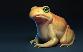 Preview wallpaper Frog, green eyes, gray background