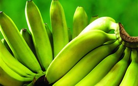 Preview wallpaper Green bananas, unripe