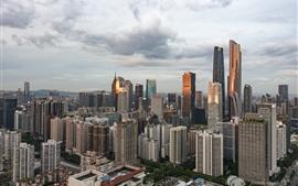 Гуанчжоу, Китай, небоскреб, городской пейзаж