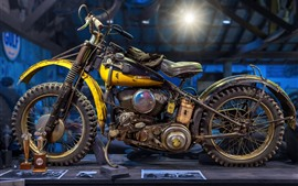 Preview wallpaper Harley-Davidson retro motorcycle