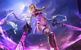 Preview wallpaper Heroes of Newerth, beautiful blonde girl, sword