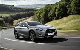 Preview wallpaper Infiniti Q30 silver car speed