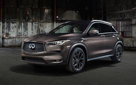 Preview wallpaper Infiniti QX50 brown car 2019