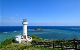 Japan, lighthouse, sea, coast
