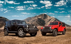 Preview wallpaper Jeep Wrangler black and red cars