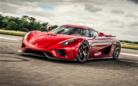 Preview wallpaper Koenigsegg red supercar front view
