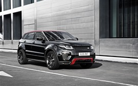 Preview wallpaper Land Rover Range Rover black SUV car