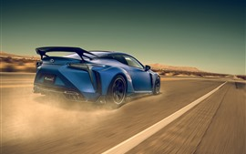 Preview wallpaper Lexus LC blue supercar speed
