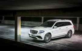 Preview wallpaper Mercedes-Benz AMG X166 white SUV car