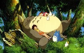 Preview wallpaper My Neighbor Totoro, Hayao Miyazaki, happy childhood