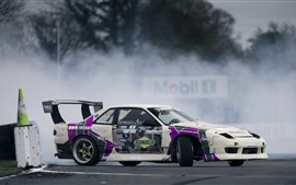 Preview wallpaper Nissan Silvia S13 race car side view