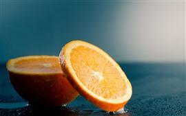 Preview wallpaper Orange slice, water, hazy