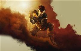 Preview wallpaper Rainbow Six Siege, mask, smoke