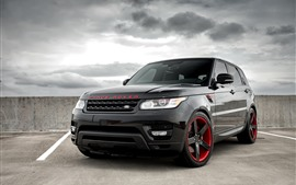 Preview wallpaper Range Rover black SUV car front view