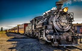 Поезд ретро, паровоз