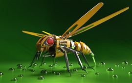 Preview wallpaper Robot bee, 3D picture