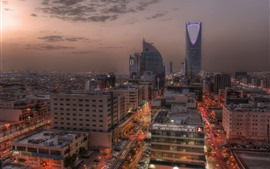 Preview wallpaper Saudi Arabia, Riyadh, city, night, skyscrapers, lights